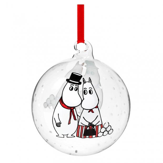 Vánoční ozdoba Moominmamma & Moominpappa 9cm
