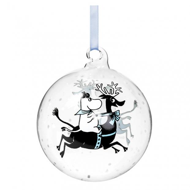 Vánoční ozdoba Moomin Reindeer Ride 9cm