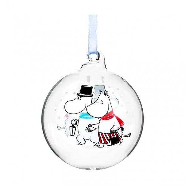 Vánoční ozdoba Moomin Evening walk 7cm