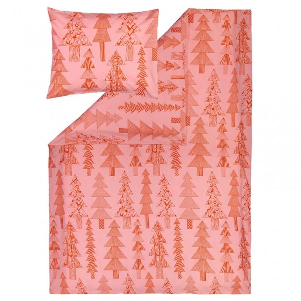 Obliečky Kuusikossa 150x210, ružovo-červené