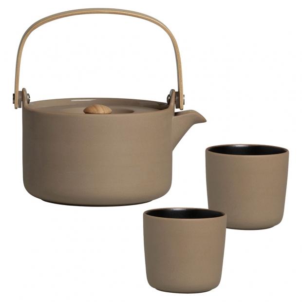 Čajová súprava Oiva, hnedá