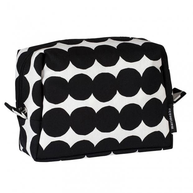 Kosmetická taška Vilja Räsymatto, černo-bílá