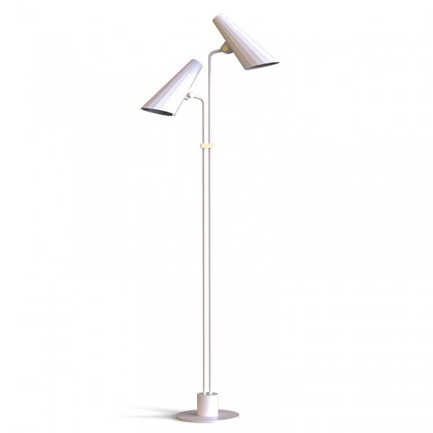 Stojací lampa Siro, bílá