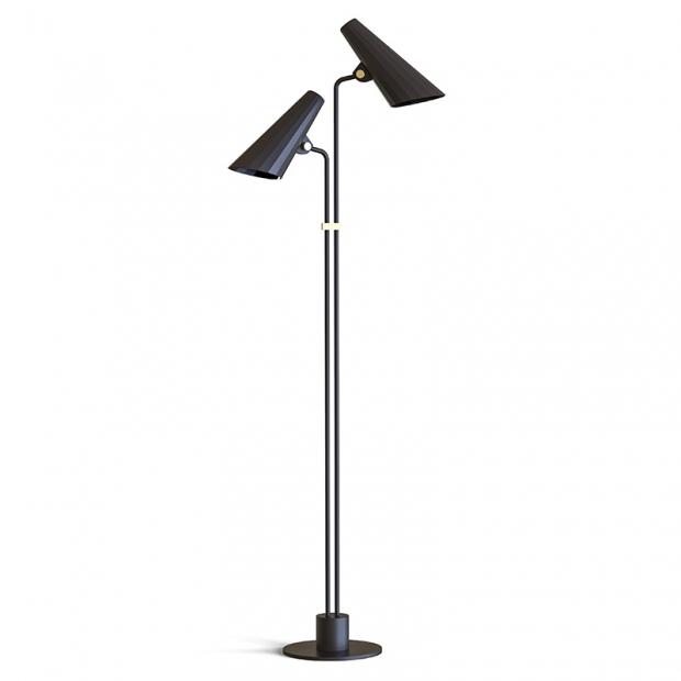 Stojacia lampa Siro, čierna