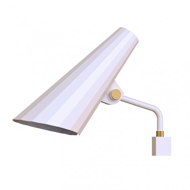 Nástenná lampa Siro 100, biela