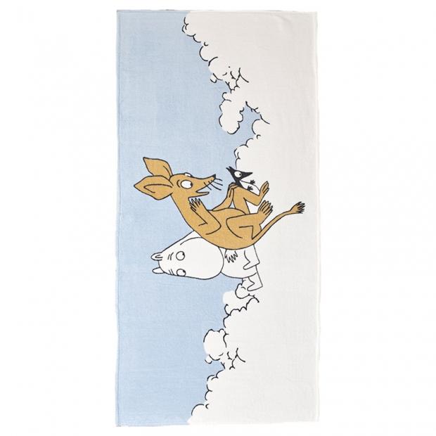 Osuška Moomin Poutamuumi 70x150cm, modrá