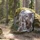 Vlněná deka Metsikkö 130x180, hnědo-bílá