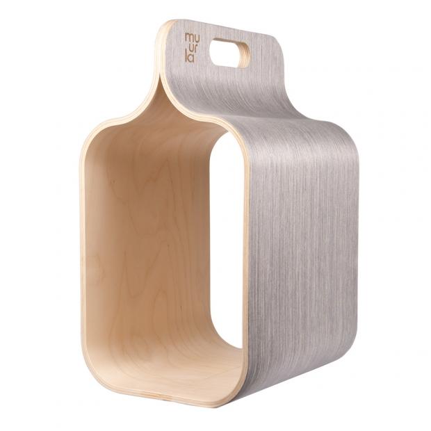 Úložný box na drevo Carrier, sivý
