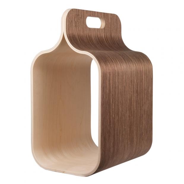 Úložný box na dřevo Carrier, hnědý