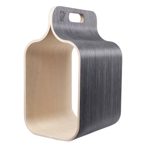 Úložný box na dřevo Carrier, černý