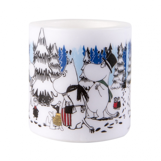 Svíčka Moomin Winter forest 8cm