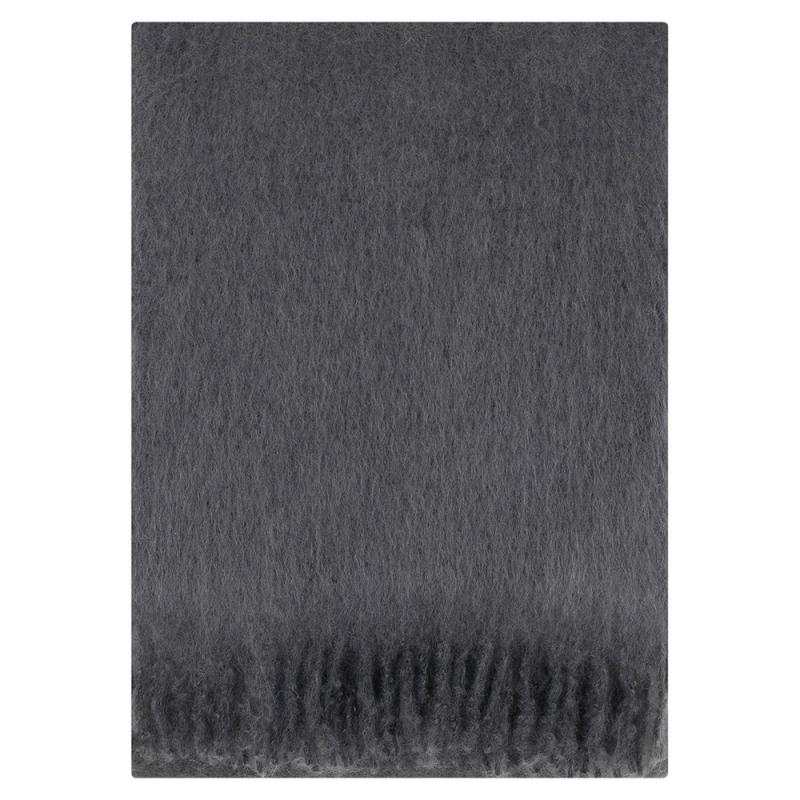 Mohérová deka Saaga Uni 130x170, šedá smoke