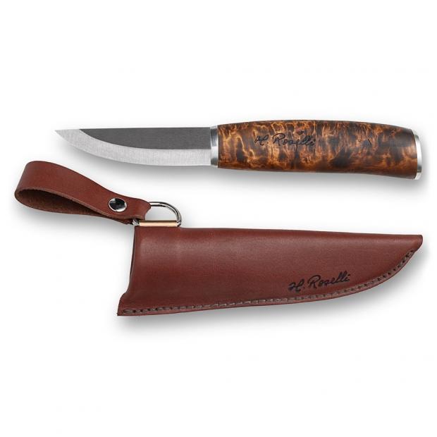 Finský nůž Roselli Wootz 19,5cm / stříbro