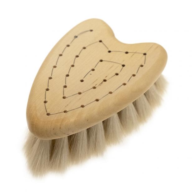 Masážna kefa pre deti Heart z kozieho vlasu