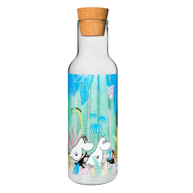 Karafa Moomin In the jungle 1l, s korkovou zátkou
