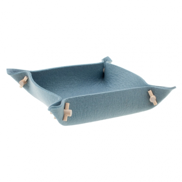 Plstěná miska Vati S, modrá aqua