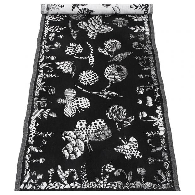 Behúň Aamos 48x150, čierno-biely