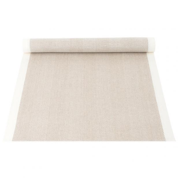 Ľanový běhúň Iida 43x150, béžový