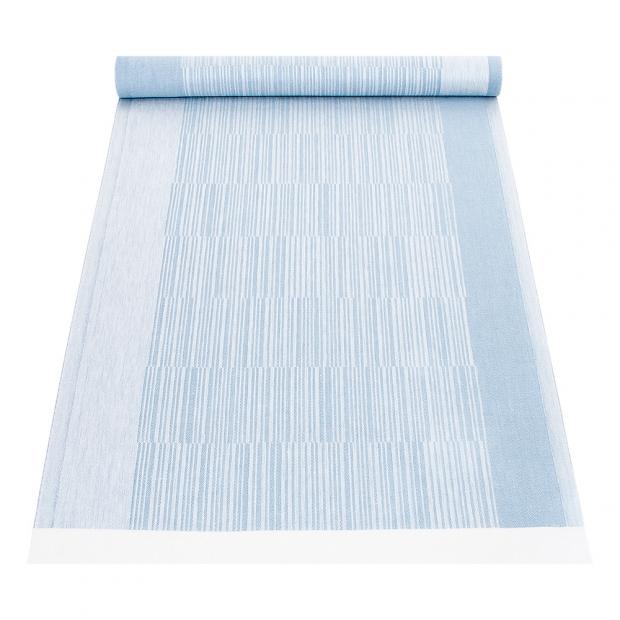 Lněný běhoun Viiva 48x150, modrý