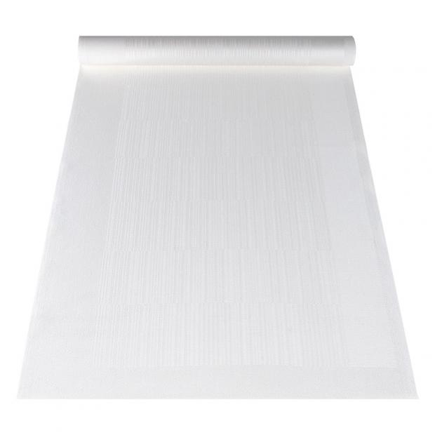Ľanový běhúň Viiva 48x150, biely
