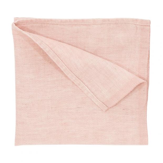 Ľanový obrúsok Usva 47x47, ružový