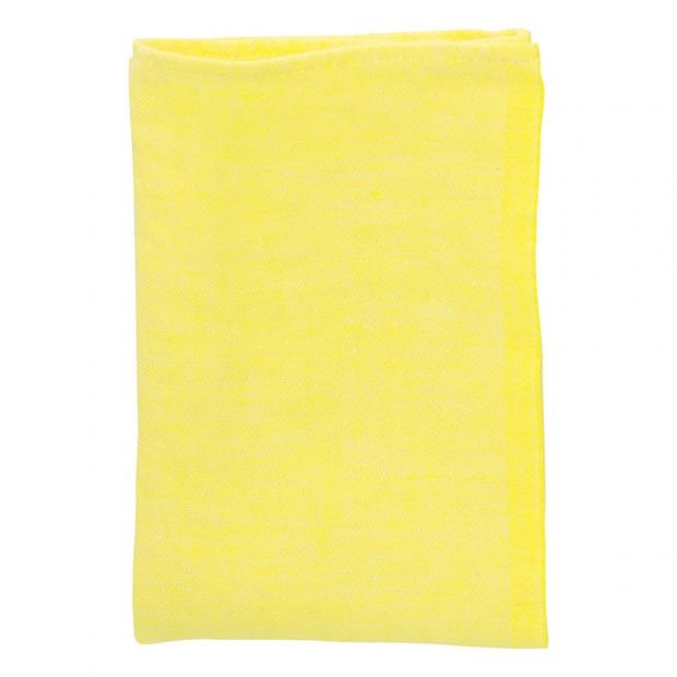 Lněný ubrousek Usva 47x47, žlutý