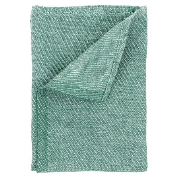 Ľanový obrúsok Usva 47x47, zelený aspen