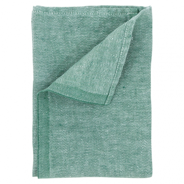 Lněný ubrousek Usva 47x47, zelený aspen