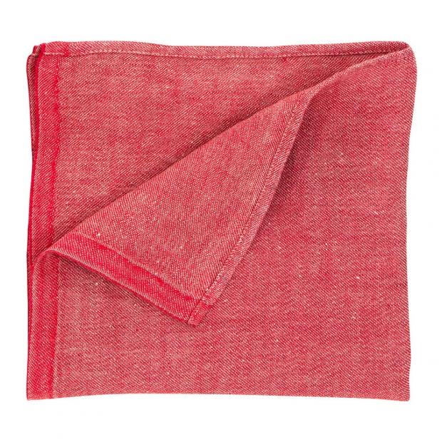 Ľanový obrúsok Usva 47x47, červený