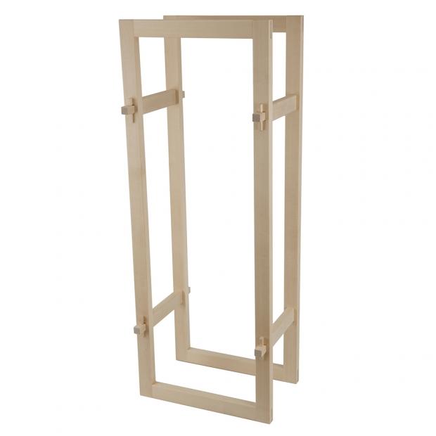 Úložný box na dřevo, vysoký / bříza