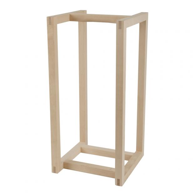 Úložný box na dřevo, nízký / bříza