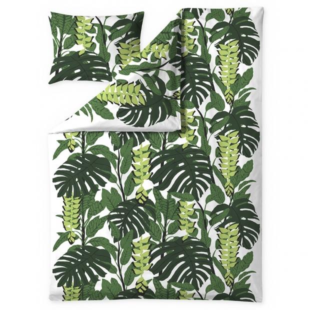 Obliečky Bunaken 150x210, zeleno-biele