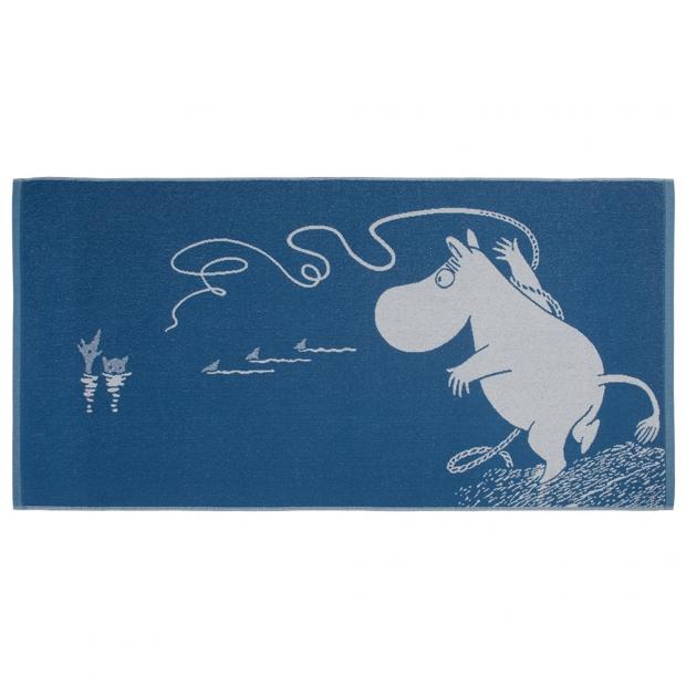 Osuška Moomin 70x140cm, modrá