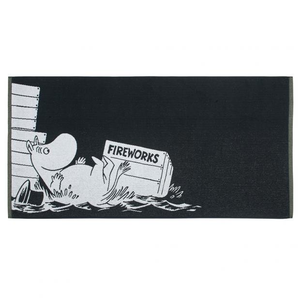 Osuška Moominpappa 70x140cm, čierna