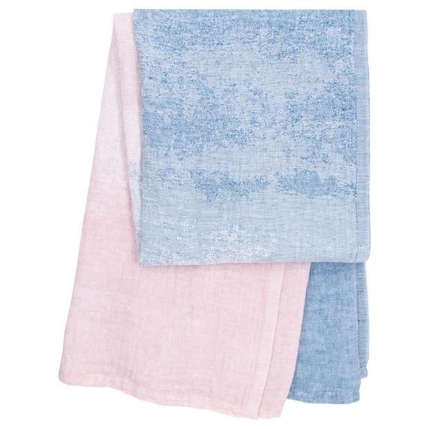 Ručník Saari, modro-růžový