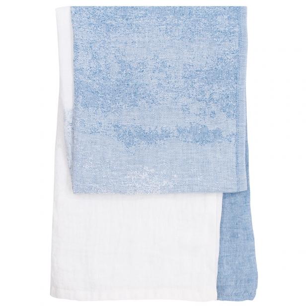 Ručník Saari, modro-bílý