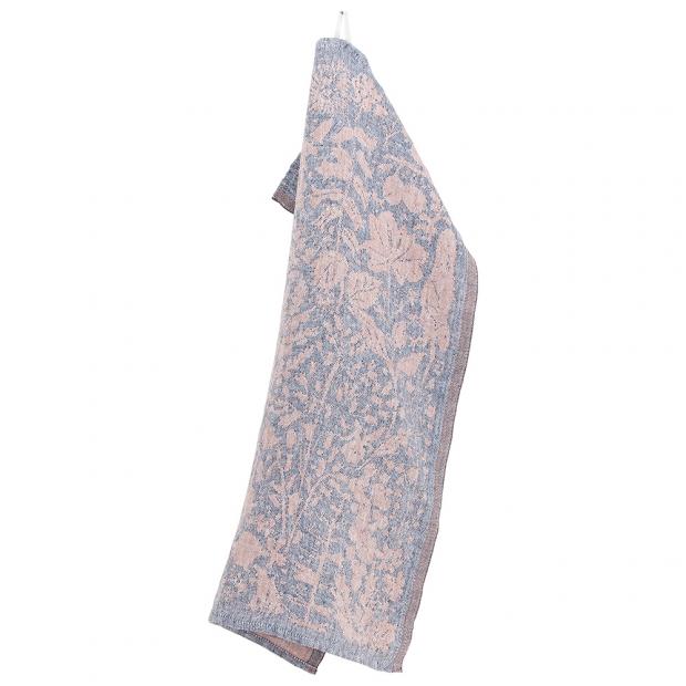 Lněná utěrka Villiyrtit 48x70, borůvkovo-skořicová