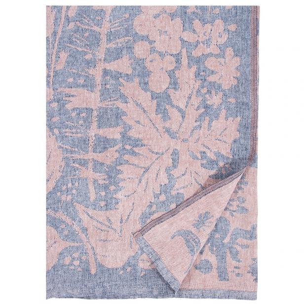 Lněná deka / ubrus Villiyrtit 150x200, borůvkovo skořicová