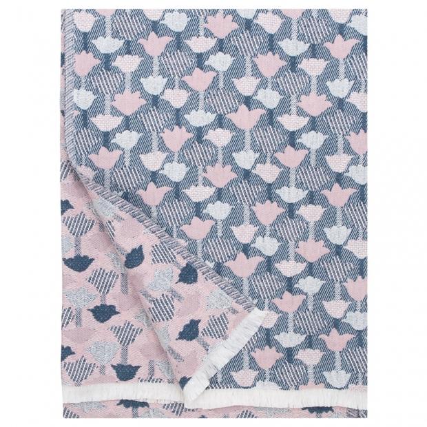 Deka / obrus Tulppaani 130x180, ružovo-modrá