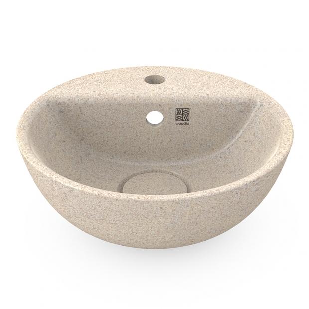 Umývadlo na dosku Soft40, biele polar / s otvorom na batériu