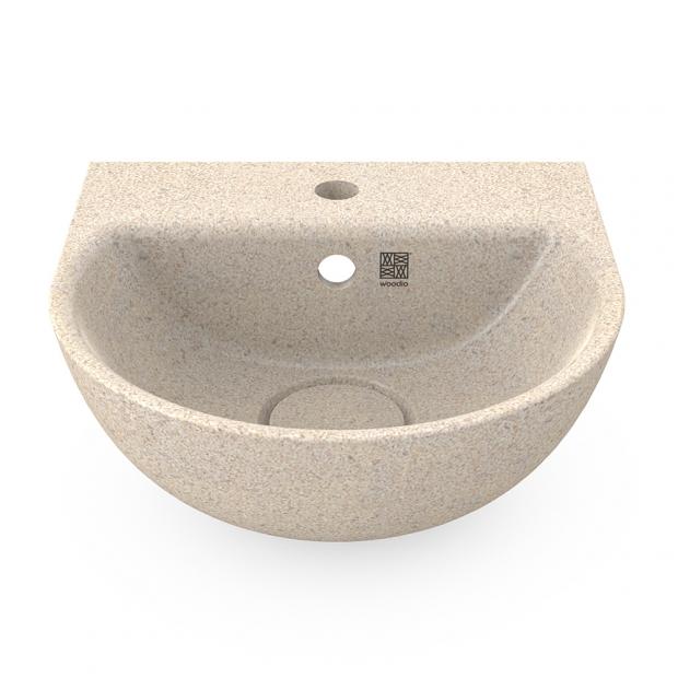 Umývadlo Soft40, biele polar / závesné s otvorom na batériu