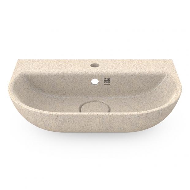 Umývadlo Soft60, biele polar / závesné s otvorom na batériu