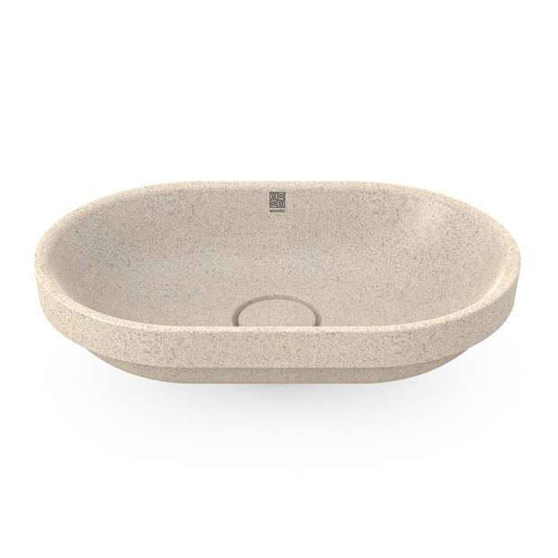 Umývadlo Soft60, biele polar / zápustné