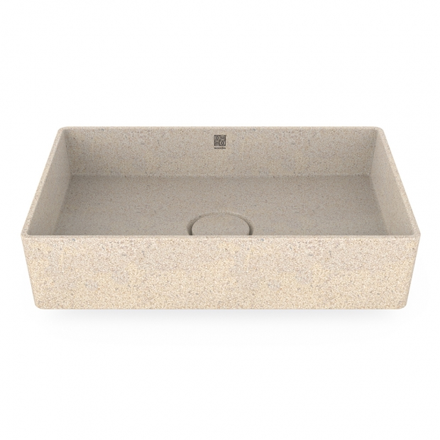 Umývadlo Cube60, biele polar / na dosku