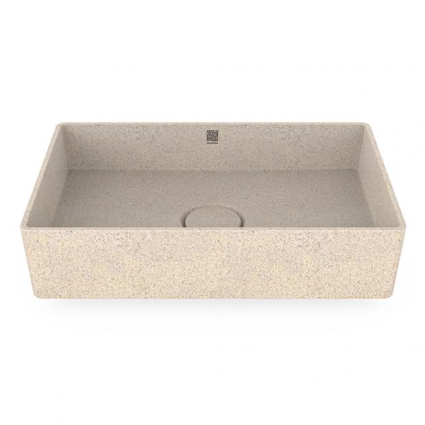 Umyvadlo Cube60, bílé polar / na desku