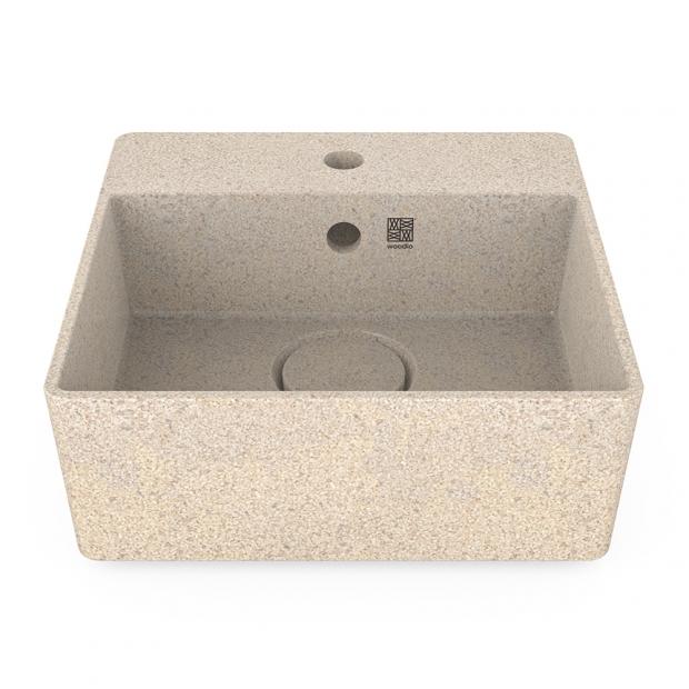 Umyvadlo Cube40, bílé polar / na desku s otvorem na baterii