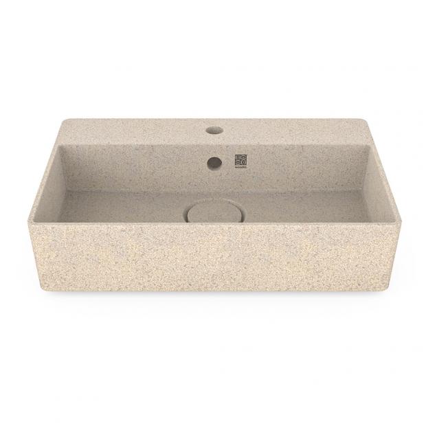 Umývadlo Cube60, biele polar / na dosku s otvorom na batériu
