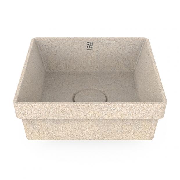 Umyvadlo Cube40, bílé polar / zápustné