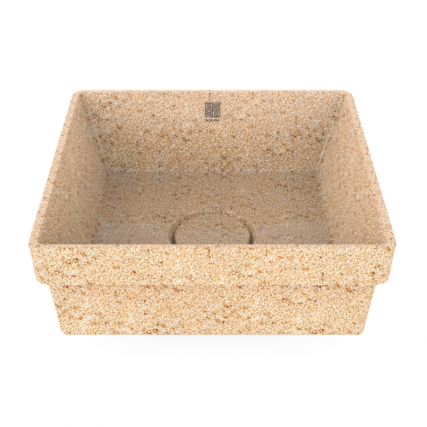 Umyvadlo Cube40, béžové natural / zápustné