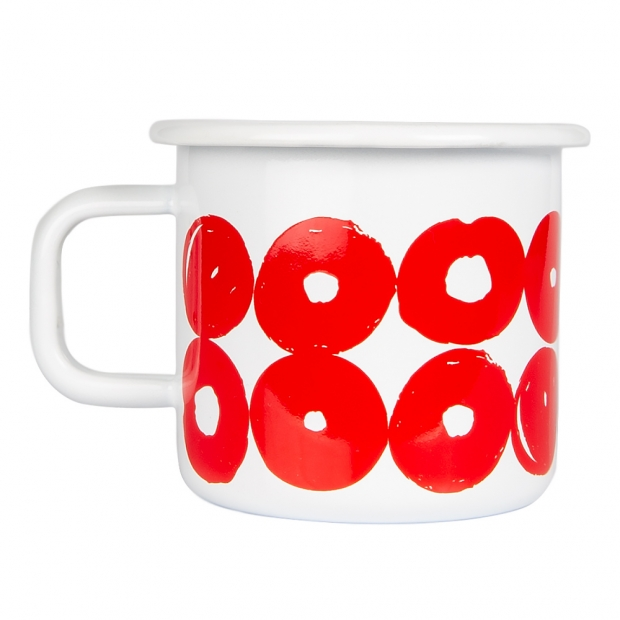Hrnek Twirl 0,37l, červeno-bílý